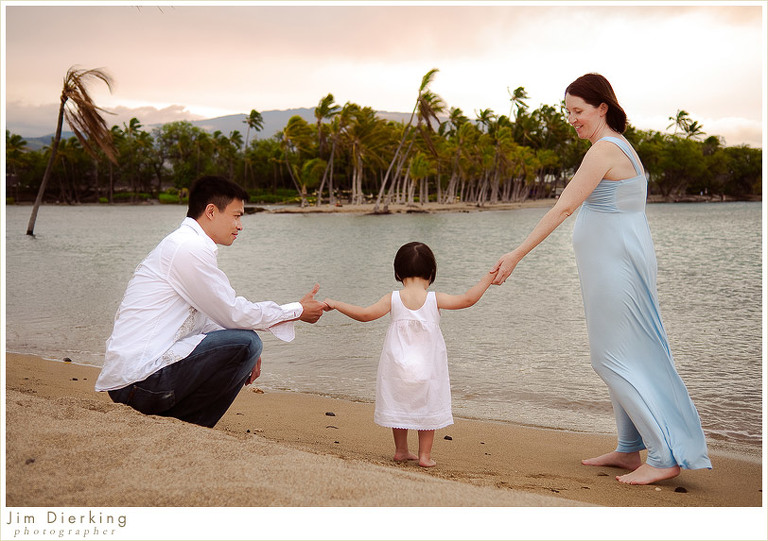 Anaeho'omalu Bay - Hawaii Family Photography