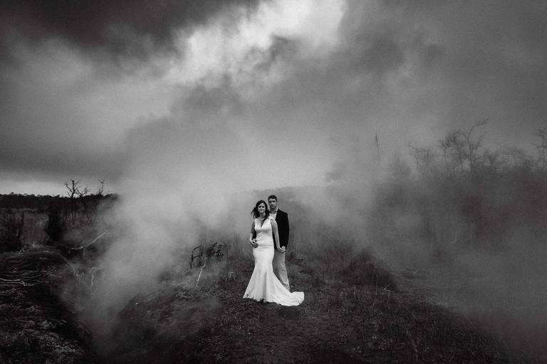 hawaii volcano wedding
